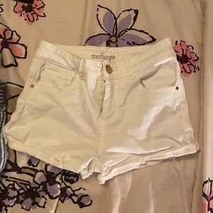 White refuge shorts